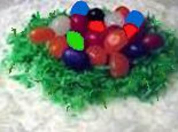 Easter Egg Nest Cake Or Snow Storm Cake
