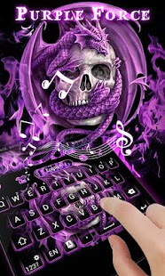 Purple Force GO Keyboard Theme - náhled