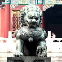 Photo: Day 190 -  Mother Lion and Baby in The Forbidden Palace
