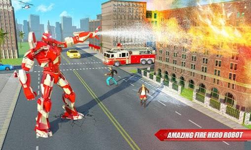 Fire Truck Real Robot Transformation: Robot Wars 1