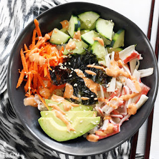 Sushi Bowls with Sriracha Mayo