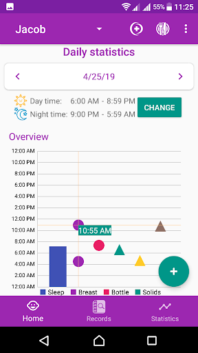 BabyAppy: breastfeeding, sleep and diapers tracker 1.37 Screenshots 3