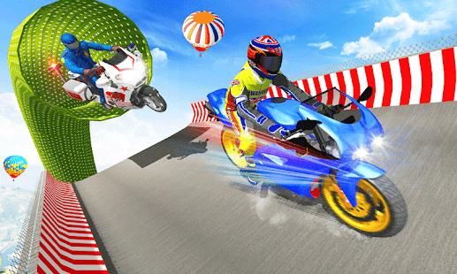 Police Bike Mega Ramp Impossible Bike Stunt Games for pc