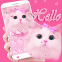 Cute Kitty theme Pink Bow Kitty icon