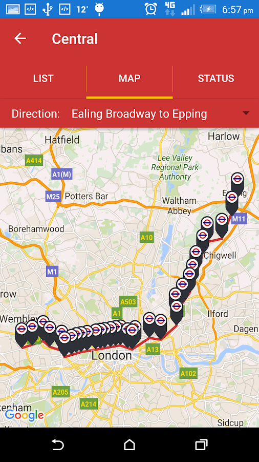 Live London Bus Tracker- screenshot