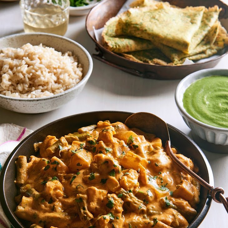 Potato Cauliflower and Green Bean Curry Recipe