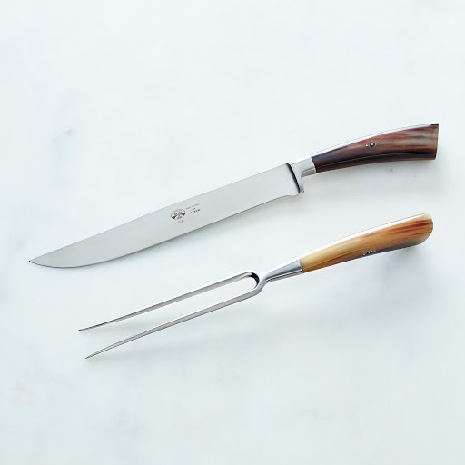 I Forgiati Carving & Serving Set with Ox Horn Handles