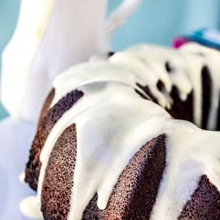 Chocolate Cake with Coconut Custard