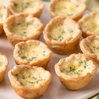 Mini Cheese Quiche.