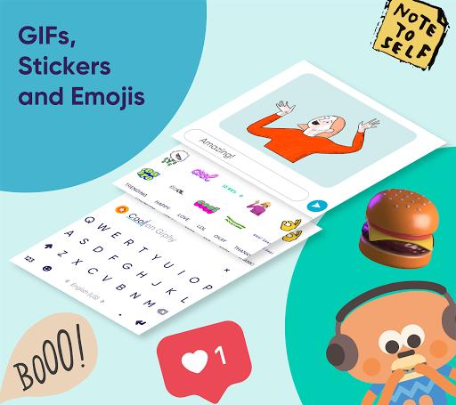 Fleksy: Fast Keyboard + Stickers, GIFs & Emojis 9.8.8 screenshots 1