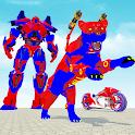 Police Panther Robot Transform: Bike Robot Games icon