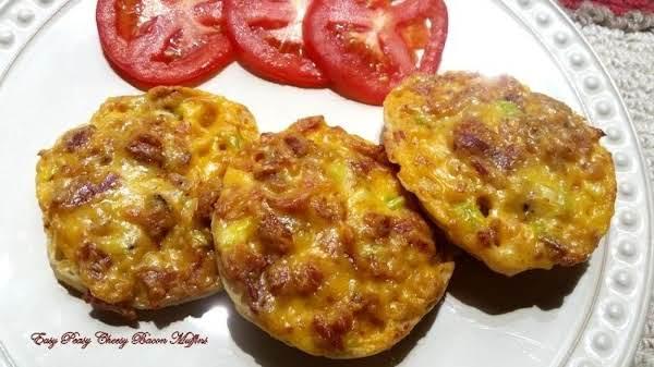 ~ Easy Peasy Cheesy Bacon Muffins ~