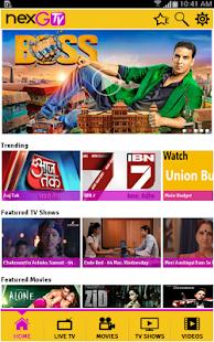 nexGTv – Mobile TV, LIVE TV - screenshot thumbnail