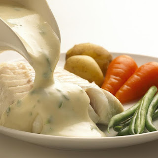 Traditional English Parsley Sauce.