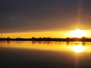 Photo: Beautiful sunset over a lake at Eastwood Park in Dayton, Ohio.