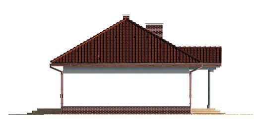 Dom przy Klonowej - Elewacja lewa