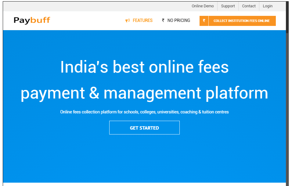 India's Fee Payment App- screenshot