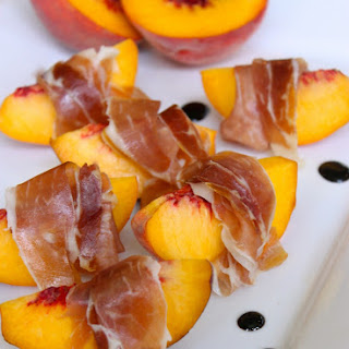 Peaches with Prosciutto and Balsamic Glaze Recipe