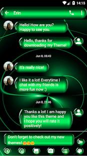 Spheres Green SMS Zprávy - náhled
