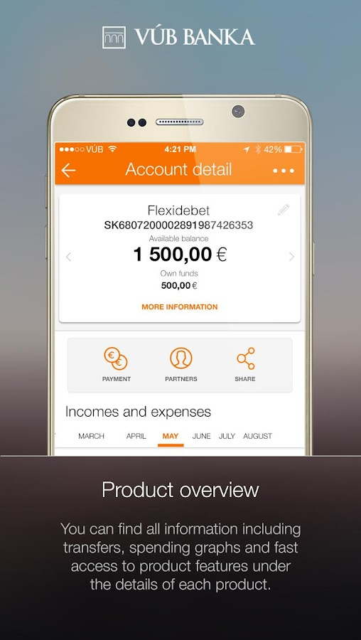 VÚB Mobile Banking- screenshot