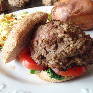 Baba Ghanoush Turkey Burgers.