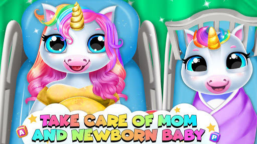 Pregnant Unicorn Mom And Baby Daycare 0.3 screenshots 1