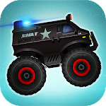 Monster Truck Police Racing Icon