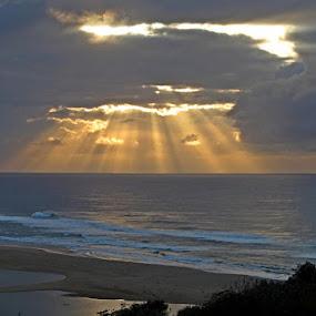 by Nico Ebersohn - Landscapes Sunsets & Sunrises ( sunrises, rays, water, sea )