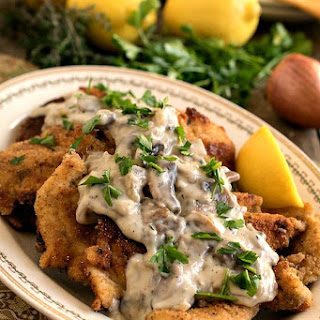 Chicken Escalope with Mushroom Sauce Recipe