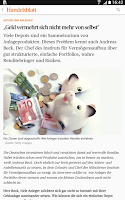 Screenshot of Handelsblatt Online