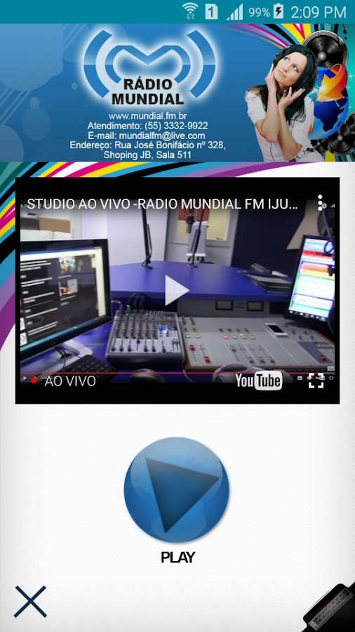Rádio Mundial Ijuí 96,5- screenshot