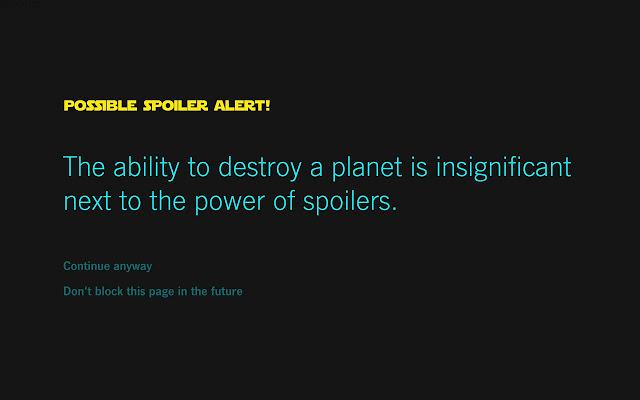 Force Block: the Star Wars spoiler blocker