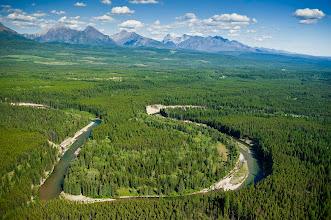 Photo: Flathead Valley, Southwestern British Columbia, Canada.   July 2009.