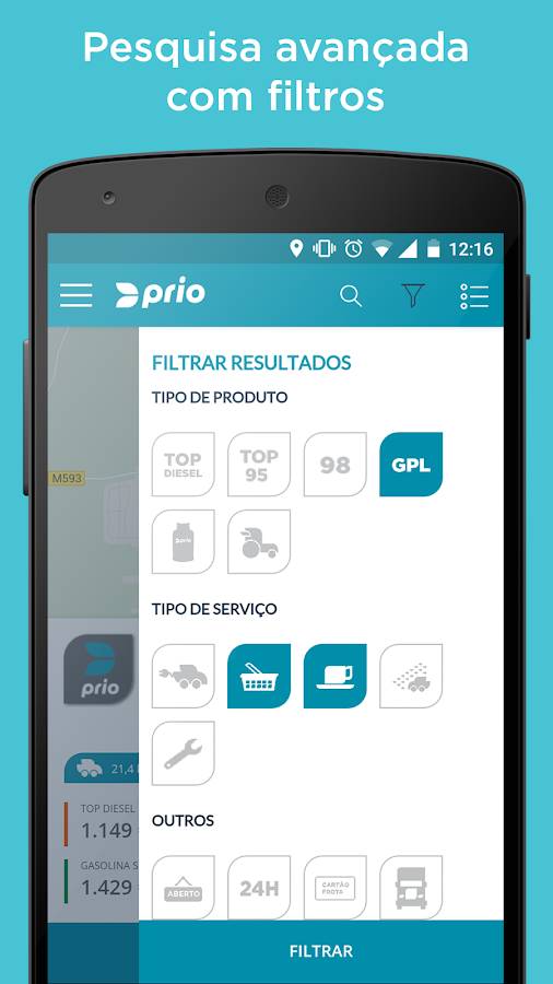 Prio- screenshot
