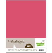 Lawn Fawn Cardstock - Raspberry