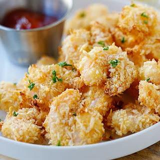 Parmesan Baked Popcorn Shrimp.