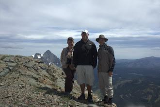 Photo: Elizabeth, Dash, and Josh on the summit of Elk Mountain