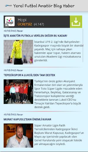 Yerel Futbol Amatör Blog Haber