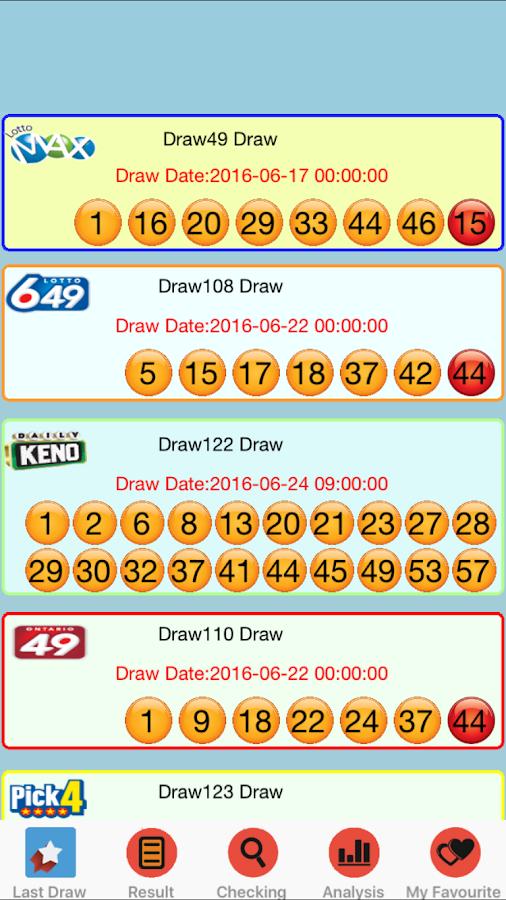 6/49 Canada Lotto