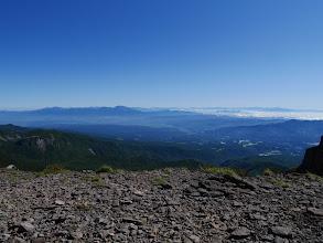 左から四阿山・浅間山・白根山・男体山など