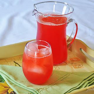 Rhubarb and Strawberry Juice.