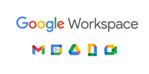 Google Workspace logo with product icons