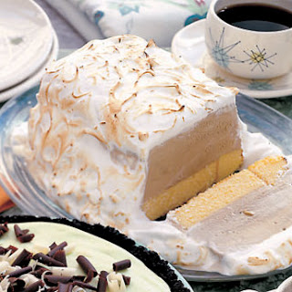 Coffee Baked Alaska with Mocha Sauce