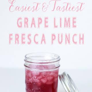 Easiest & Tastiest Grape Lime Punch.