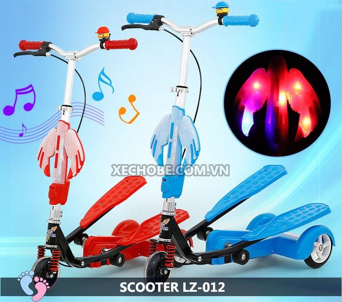 Xe trượt Scooter đạp chân LZ-012 có đèn, nhạc 4