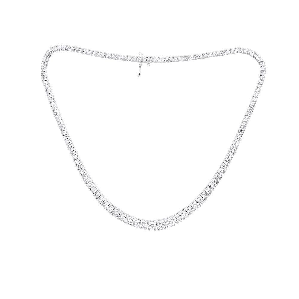Ladies Designer Diamond Eternity Necklace 17.70ct 18K Gold Main Image