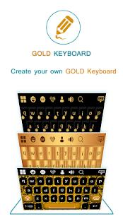 Gold Keyboard - náhled