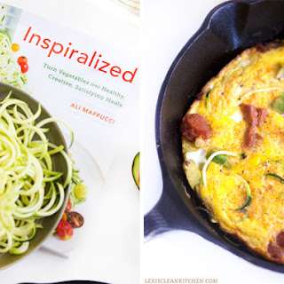 Chorizo and Avocado Zucchini Frittata.
