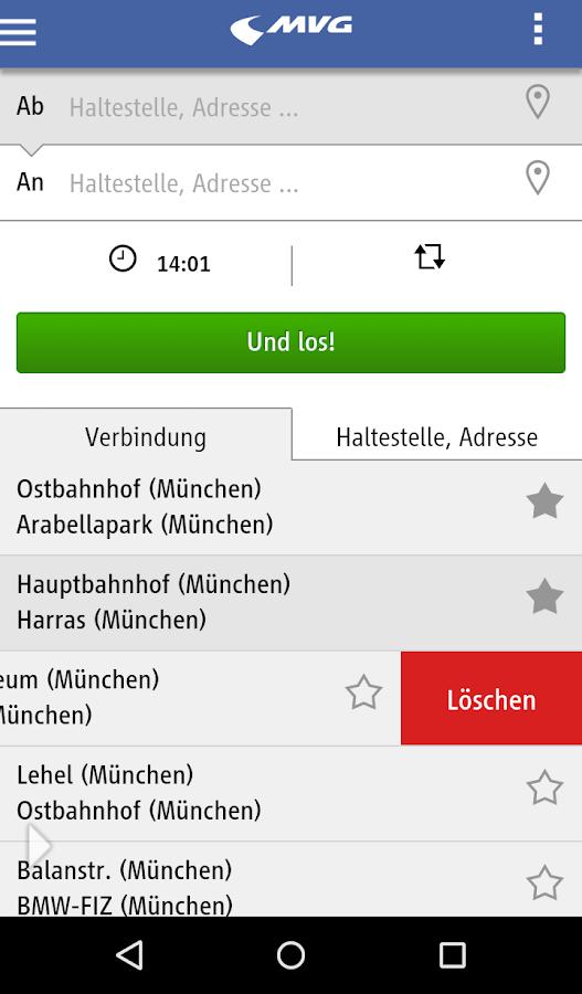 MVG Fahrinfo München- screenshot