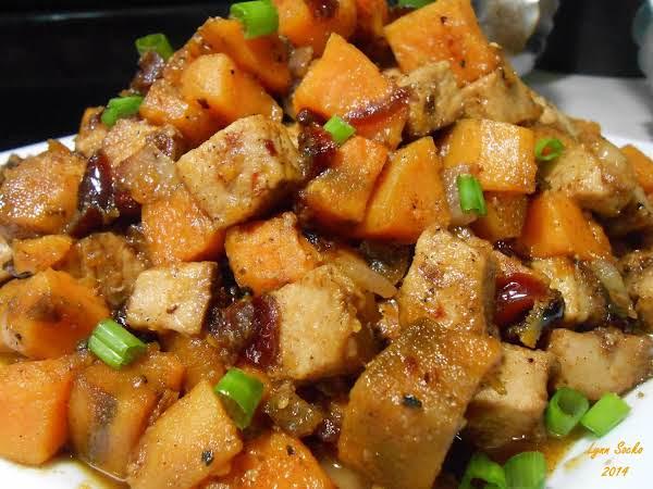 Pork Loin And Sweet Potato Hash